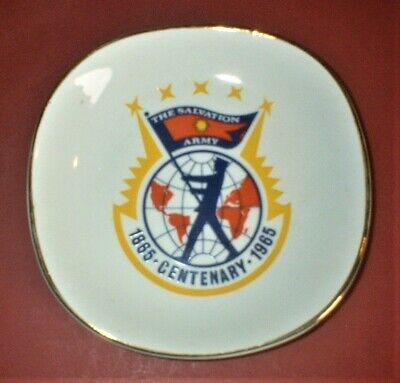 Vintage 1965 Salvation Army Centenary Souvenir Plate Pin Dish Ashtray • 9.99£