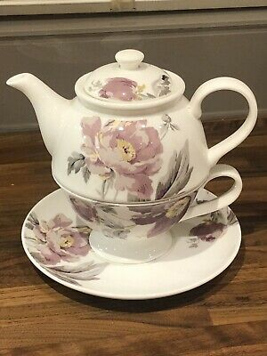 Beautiful Laura Ashley Teapot , Cup And Saucer For One  • 10£