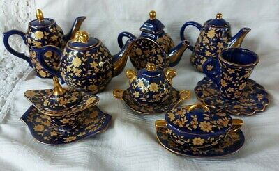 Old Tupton Ware Cobalt Blue And Gold Miniature Items To Choose From • 12.99£