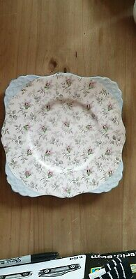 Vintage Tuscan Bone China Blue Cake /bread Plate • 4.50£