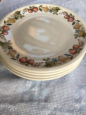 Vintage Wedgwood Quince Dinner Plates X 5, 27cm • 24.99£