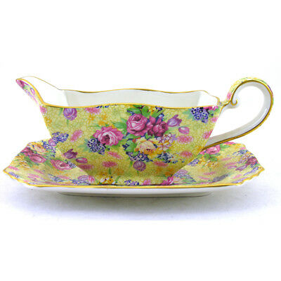 Royal Winton Welbeck Ascot Sauce Boat And Stand • 46£