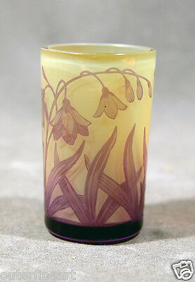 Beautifull Cameo Glass Cup Signed  D. Argenthal   • 775.16£