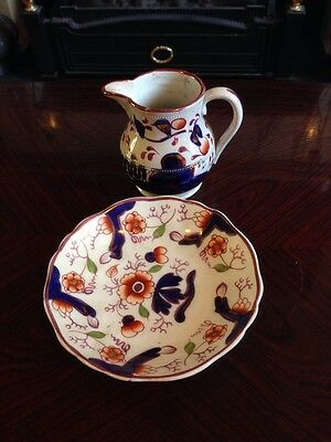 Beautiful Antique Listre Jug And Plate - Handpainted • 24.55£