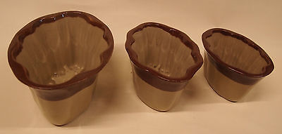 Denby   Set  Of  3  Old  Jelly  Moulds    Clearance Price • 25£