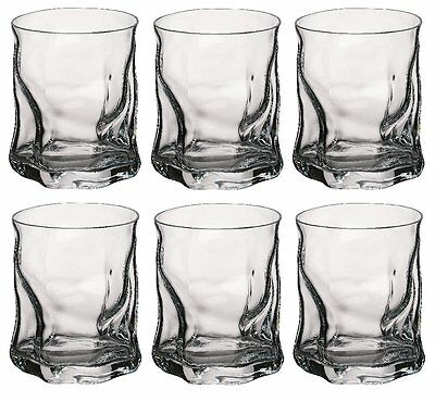 Tumbler Whisky Glasses Twisted Design Set Of 6 Cups 15oz High Quality  • 1,000£
