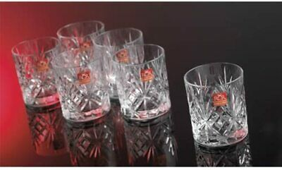 Crystal Whisky Glasses Set Of 6 230 Ml Classic Tumblers Cup Stability&Durability • 1,000£