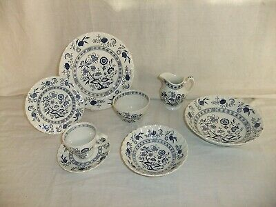 C4 Pottery J & G Meakin Classic Blue Nordic Vintage Scandi Style Tableware 9C2D • 12£