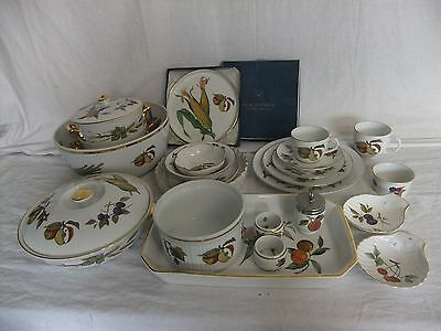 C4 Porcelain Royal Worcester Evesham Unmarked, Gild Edge Oven To Table Ware 5D1A • 3.99£