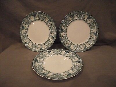 Set Of 3 Colonial Pottery Malvern 8 7/8  Salad/Lunch Plates • 17.67£