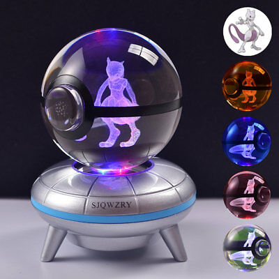 Mewtwo Pokemon Elf Pokeball 3D Home Decor Night Light LED Desk Table Lamp Gift • 19.93£