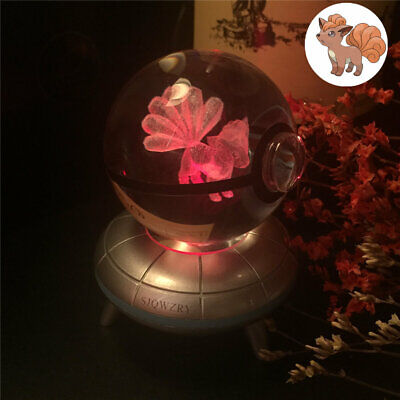 Pokemon Vulpix Elf Pokeball  3D Home Decor Night Light LED Desk Table Lamp Gift • 19.93£