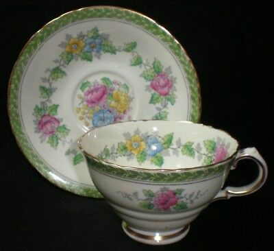 Vintage Delphine Bone China 5039 Cup And Saucer [43] • 8.50£