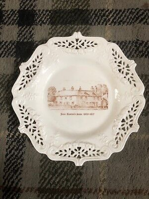 Lovely Leedsware Creamware Plate Showing Jane Austins Home • 19.99£
