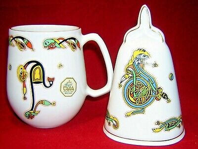 Royal Tara Galway Irish Bone China Handmade Ireland Celtic Design Mug & Bell • 19.99£