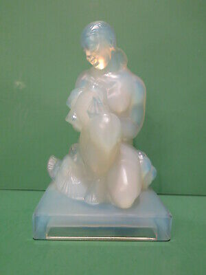Sabino Nude Lady W Doves Figurine  Jeune Fille Aux Colombes  Opalescent • 322.27£