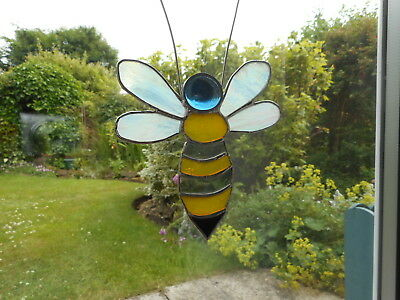 Stained Glass Bee Suncatcher Or Wall Mount.  • 23£