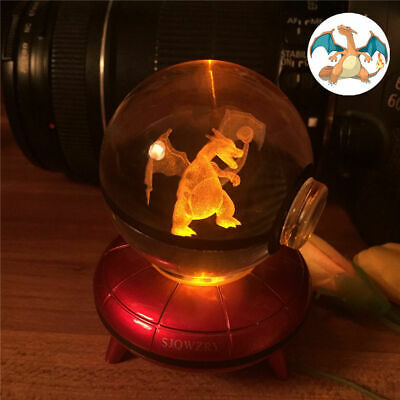 Charizard 3D LED Crystal Decor Night Light Table Lamp Gift RGB • 17.89£