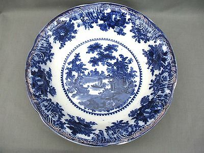 Large 19th Century Flow Blue Serving Bowl - Staffordshire • 35£