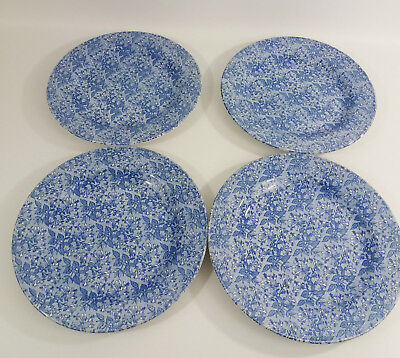 4 Casual Dining Churchill? Honeysuckle Blue Dinner Plates  26cm • 32£