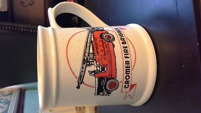 Superb Cromer Fire Brigade Tankard By Holkham Pottery-1880-1980- Quality In Vgc • 6.20£