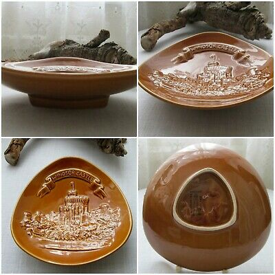 Rare - Eastgate Pottery Withernsea Curved Tri Corner Dish Relief Windsor Castle • 12.95£
