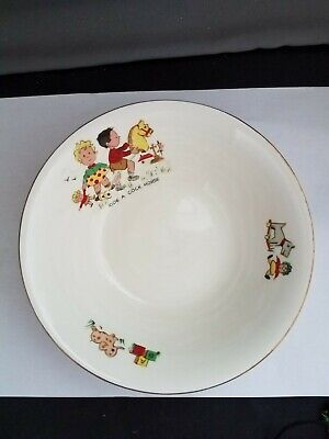Vintage 1950s Rare Alfred Meakin Write A Cock-horse Children's Bowl • 39.57£
