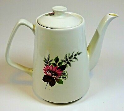 Lord Nelson Pottery Tea Pot. Vintage 1973 Pink Floral Design • 7.50£
