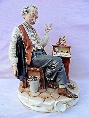 Large Vintage Numbered Capodimonte Figurine Of The Watch Repairer Signed Mariani • 49.99£