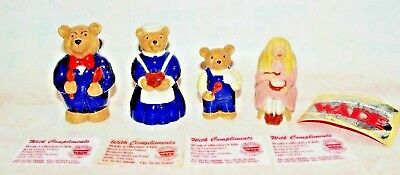 Wade Collectors Club  Goldilocks And The Three 3 Bears Set - From 1996  • 39.99£