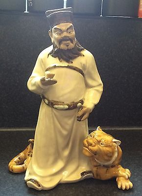 Oriental Figurine Of A Man And Tiger. • 42£