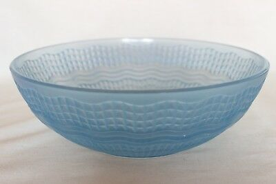 Vintage Blue Glass 'Waverley' Bowl By Chance Bros • 11.99£