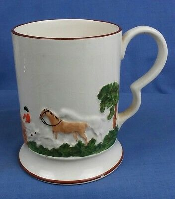 Vintage Adams Ceramic Tankard 3d Hunting Scene Horses And Hounds  • 9.99£