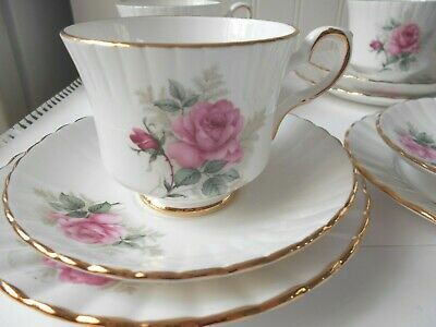 Royal Stafford Rosalind Cup, Saucer & Tea Plate X4  Lovely Condition • 24£