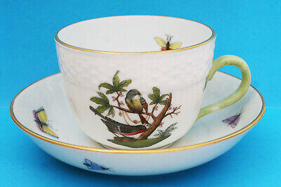 Herend Rothschild Bird / Insects Demitasse Cup And Saucer 1711/ro • 32.99£