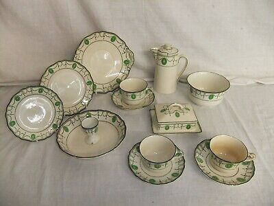 C4 Pottery Royal Doulton Countess Green On Ivory Antique Early 20th Century - R5 • 220.99£
