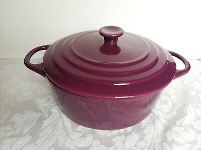 Trade Winds Large Lidded Casserole/serving Dish Purple • 21.99£