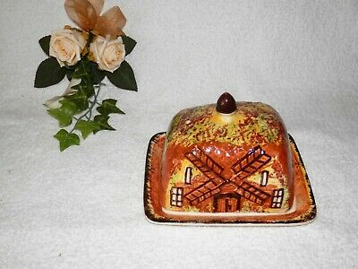 PRICE BROS. Rare Windmill House Butter Cheese Dish Circa 1934 - 1961 • 20.50£