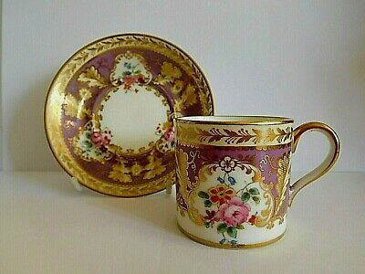 Cauldron Ltd Demitasse Coffee Cup And Saucer Hand Painted With Flower • 110£