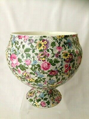 Crown Ducal Chintz Pattern Pedestal Bowl 15cm Height  • 19.99£