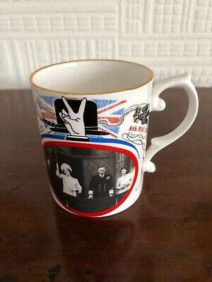 Caverswall Commemorative Mug. 40th Anniversary Of VE Day. VGC • 14.99£
