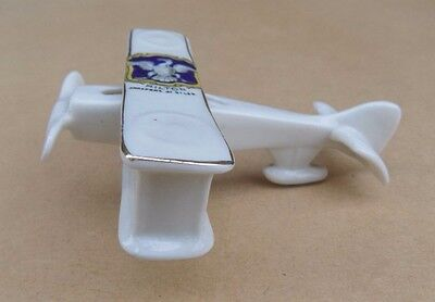 ARCADIAN Crested China WW1 Biplane - Milton Chalfont St Giles • 79.99£