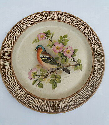 Vintage Purbeck Pottery Decorative Bird Goldfinch Plate 26cm • 9.99£