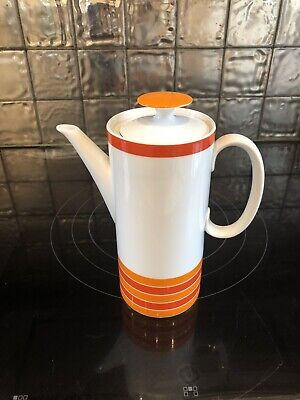 Thomas Sixties Coffee Pot With Orange And Red Stripes • 18£