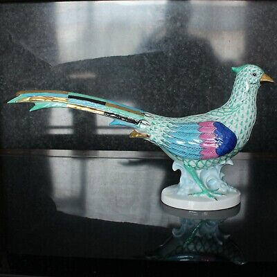 Herend Hungary Porcelain Green Pheasant Figurine No: 5178 Hand Painted • 225£