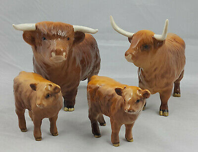 Beswick - Highland Cattle Family - Bull, Cow & 2 Calves  • 450£