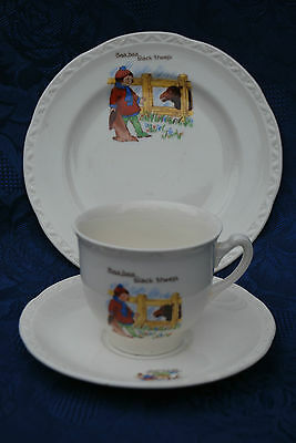 Vintage Baa Baa Black Sheep Nursery Ware Cup Trio 1940's  • 19£