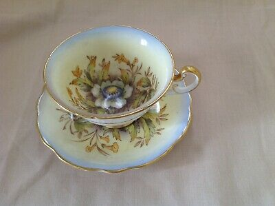 Foley Hand Painted Cup & Saucer Helichrysum Signed Taylor & Hallam • 29.99£