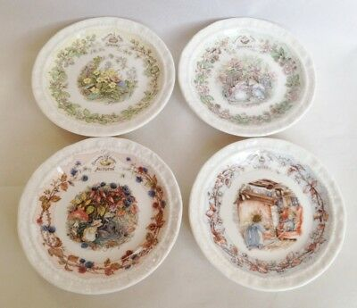 Set Of 4 Brambly Hedge Coasters - Spring, Summer, Autumn, Winter • 50£