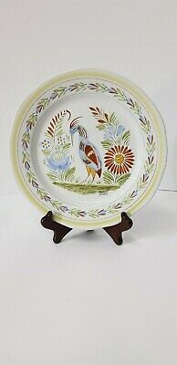 Vintage Henriot Quimper Plate With Bird French   • 24.99£